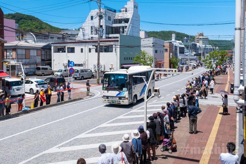 オリンピック聖火リレー 奄美大島なぜまち商店街 大島タクシー 1