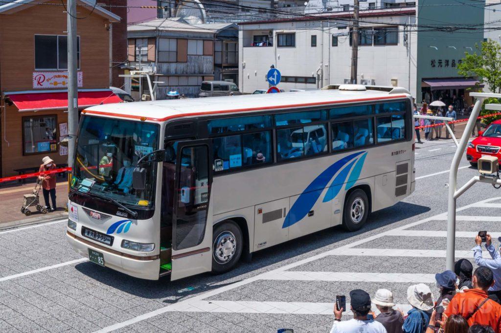 オリンピック聖火リレー 奄美大島なぜまち商店街 大島タクシー 5