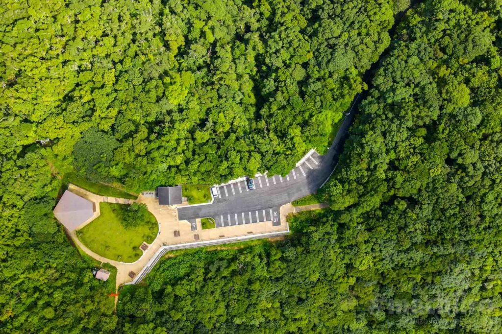湯湾岳展望公園側全貌空撮写真